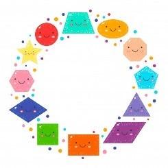 Establecer lindas figuras geométricas para niños   Vector Premium